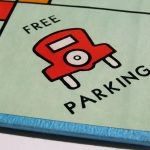 Free parking Monopoly board