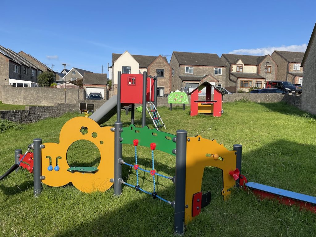 Play equipment in the junior area at Double View playground.